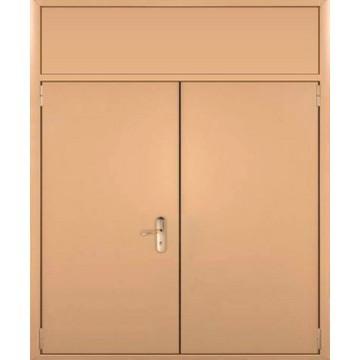 Двупольная металлическая дверь с глухарем «Двухстворка-ГЛ»