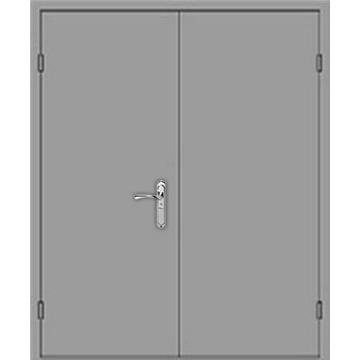 Металлическая двупольная дверь «Двуполка»