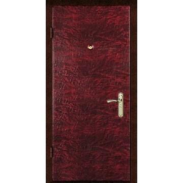 Недорогая входная дверь с шумоизоляцией «Кожзам-КВ»
