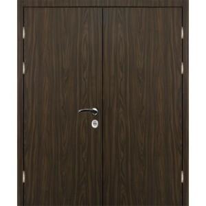 Входная утепленная двухстворчатая дверь «Ламинат-Двух»