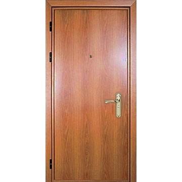 Утепленная металлическая дверь с отделкой под дерево «Ламинат-Темп»