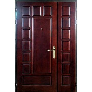 Металлическая полуторная утепленная дверь «МДФ-Т»