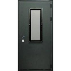 Металлическая техническая дверь с окном «Окно-Тех»