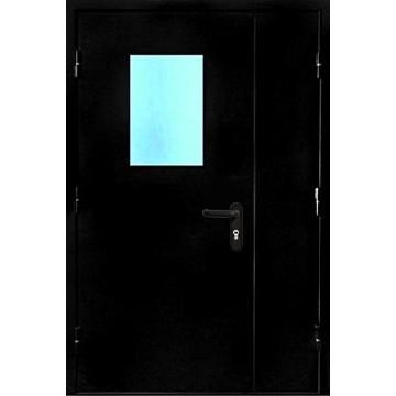 Противопожарная дверь со стеклом «Порошок EI-60»