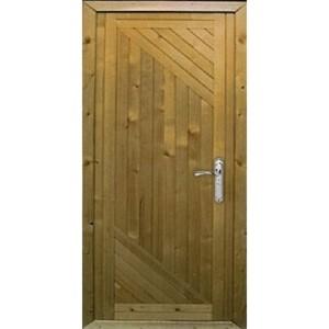 Металлическая входная дачная дверь «Вагонка-Д»