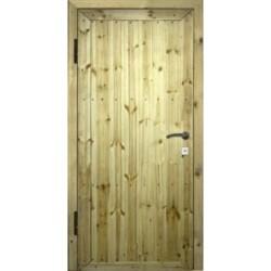 Металлическая дверь «Вагонка»
