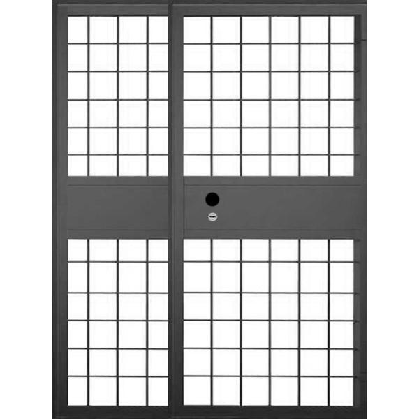 Полуторная решетчатая дверь «Решетка-Эпсилон»