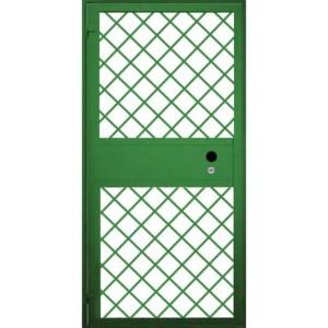 Решетчатая металлическая дверь на лестницу «Решетка-Дельта»
