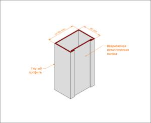 Гнуто-сварная коробка без наличника