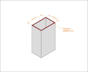 Профильная коробка без наличника