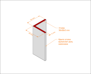 Уголковая коробка без наличника