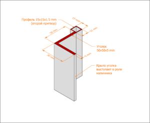 Уголковая коробка С наличником в виде крыла