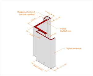 Уголковая коробка с гнутым наличником