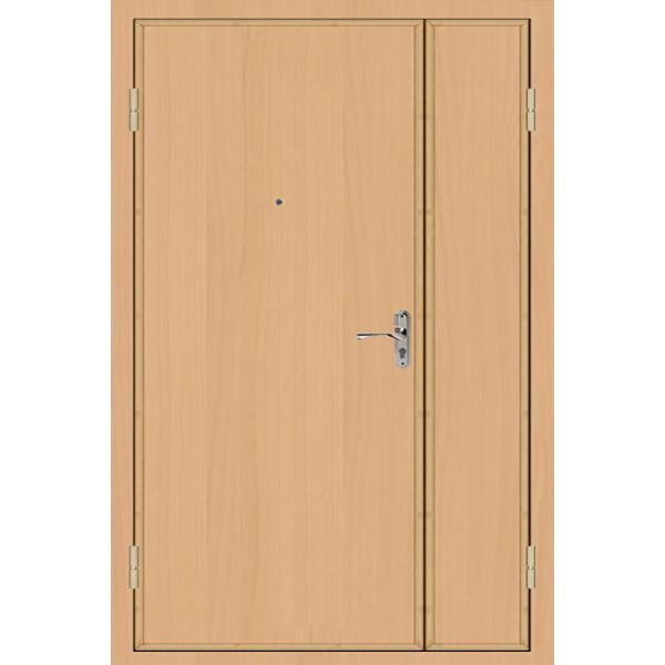 Металлическая полуторная дверь с повышенной шумоизоляцией «Ламинат-Толстая»