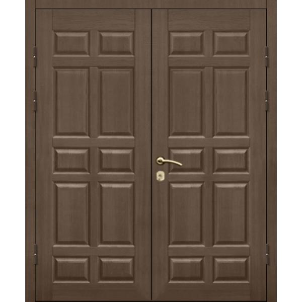 Металлическая бронированная двупольная дверь с повышенной шумоизоляцией и отделкой МДФ «Броня-Шумка*2-Д»