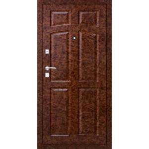 Металлическая входная дверь в квартиру с толстым полотном и двумя слоями утеплителя «Орех-МДФ-КВ»