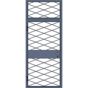 Металлическая дверь решетка для технических помещений «Сетчатые-Ромбы-1»