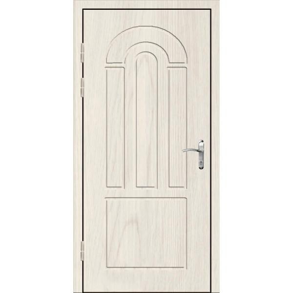Входная трехлистовая дверь в квартиру с зеркалом «Трилистник-Зеркало»