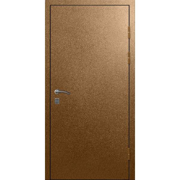 Уличная входная металлическая трехлистовая дверь - 4 мм + 2 мм - «Трлистник-Бронза»