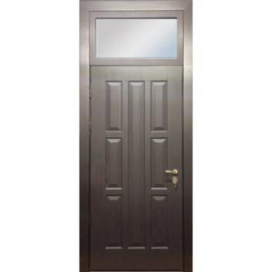 Входная металлическая дверь в старый фонд с фрамугой сверху - «Фрамуга-МДФ»