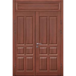 Полуторная входная металлическая дверь в старый фонд с толстым полотном и глухарем сверху «Полуторка-МДФ»