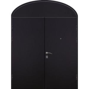 Входная двупольная дверь для домов старого фонда с глухарем арочной формы «Арочная-Двух»