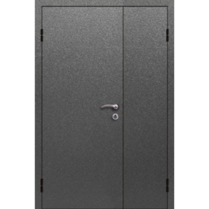 Металлическая недорогая презентабельная полуторная входная дверь «Полуторка-АЛ»