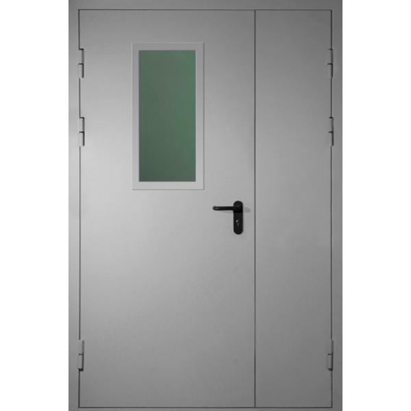 Полуторная противопожарная металлические дверь «Антипаника-Пол»