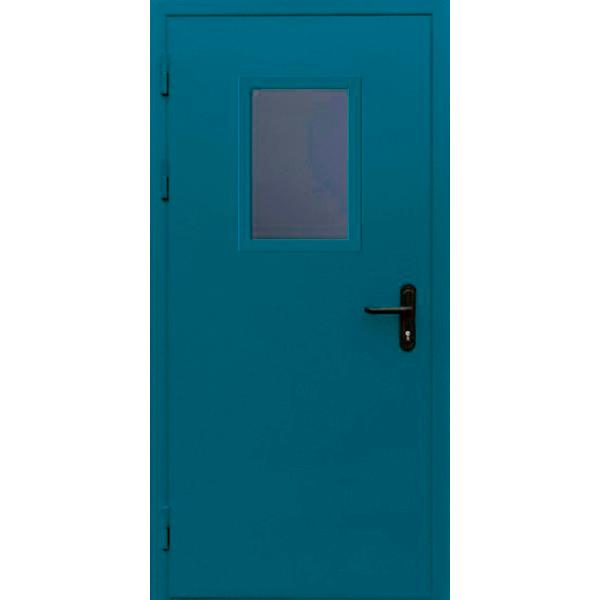 Противопожарная металлическая дверь со стеклопакетом «Огнестойкая-1»