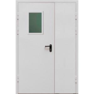 Полуторная противопожарная дверь со стеклопакетом «Огнестойкая EI-60»