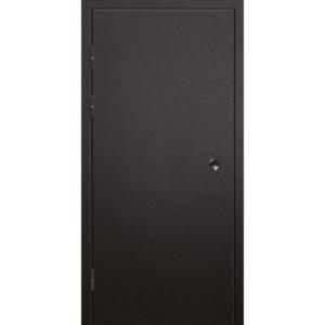 Техническая металлическая трехлистовая дверь - снаружи 4 мм стали - «Трилистник-База»